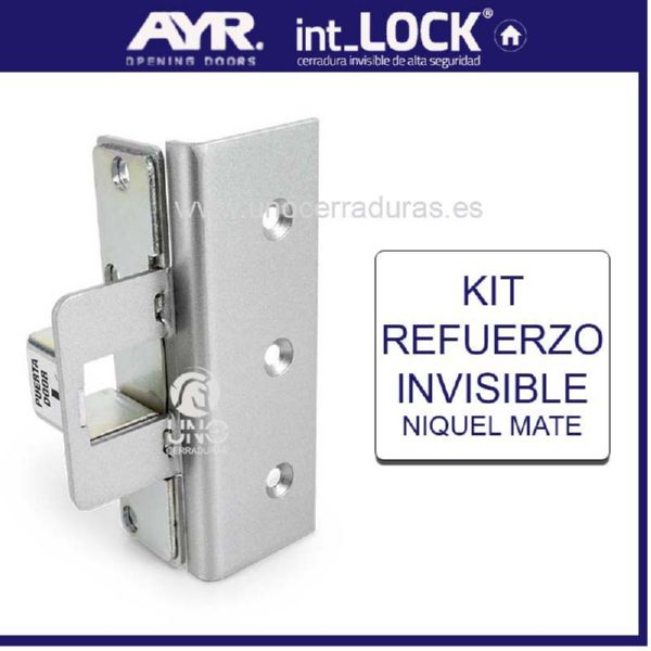 AyR Cerradura Invisible REFUERZO Cromo Mate