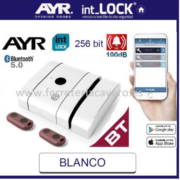 AyR INT LOCK BT Cerradura Invisible AES 256 BIT BLANCO