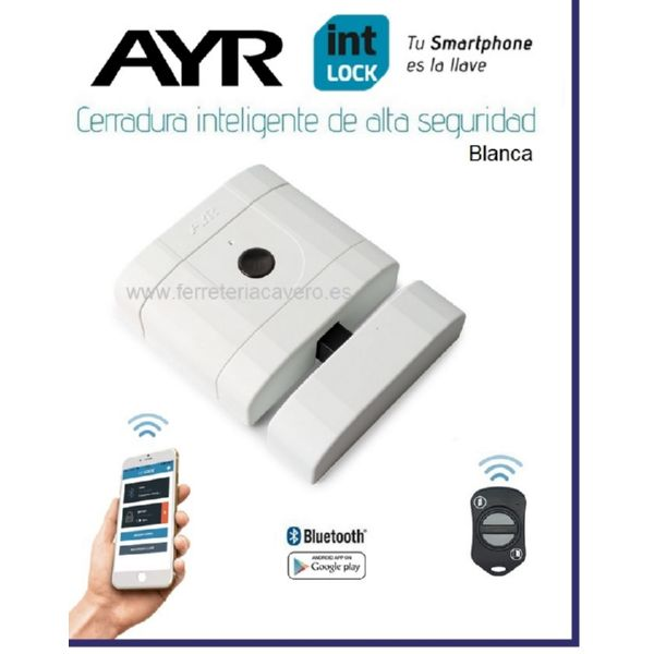 AyR INTLOCK Cerradura Invisible Inteligente Bluetooth Blanca
