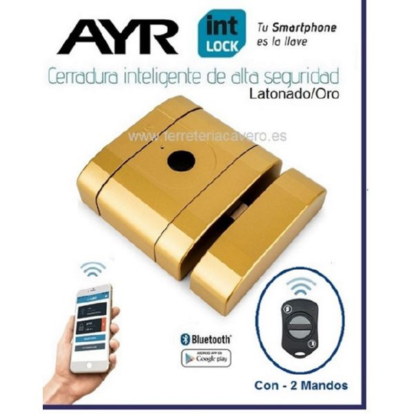 AyR INTLOCK Cerradura Invisible Inteligente Bluetooth Oro