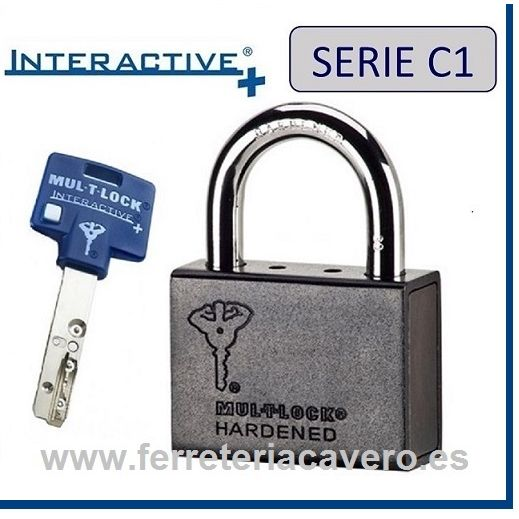 CANDADO MULTLOCK HARDENED C-1 REF 8 INTERACTIVO+