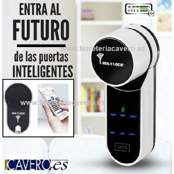 CERRADURA INTELIGENTE ENTR MULTLOCK CON MANDO y BOMBILLO MT5+ 31X50mm