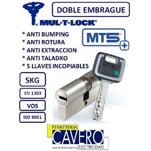 CILINDRO 33+33 66mm MT5+ PLUS ANTIBUMPING LATON DOBLE EMBRAGUE MULTLOCK