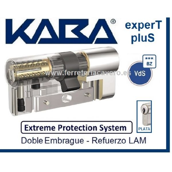 Cilindro 35+35 70mm KABA Extreme ExperT Plus D/E +Lam Cromo