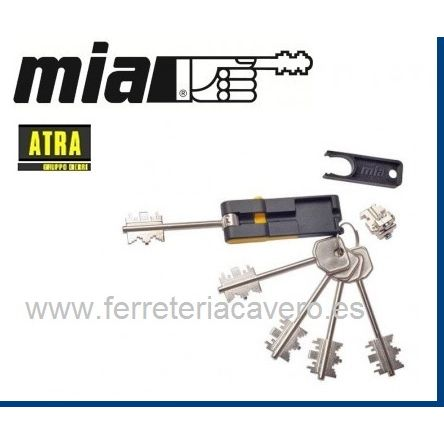 CILINDRO BLOQUE ATRA/MIA 4 LLAVES+1 PLEGABLE 92MM