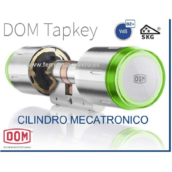 CILINDRO ELECTRONICO DOM TAPKEY NIQUEL 30X30:60MM
