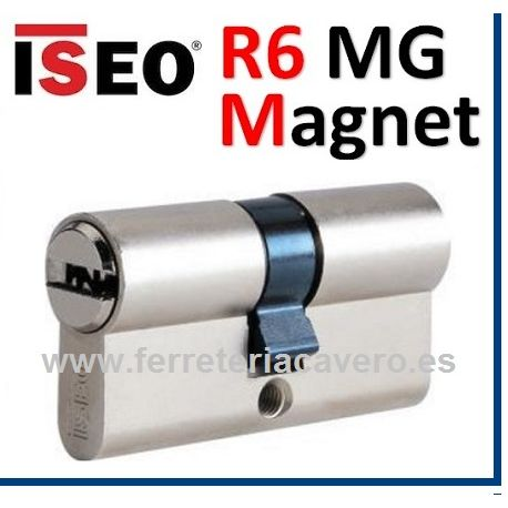 Cilindro ISEO R6 MG MAGNET 30X30:60mm D/Embrague  Cromo