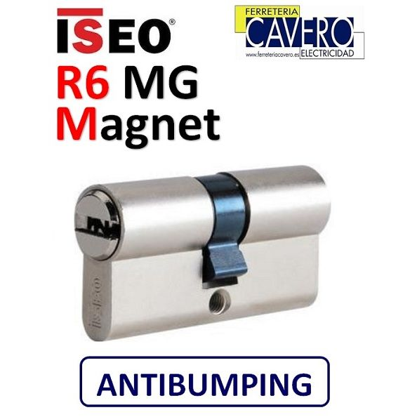 CILINDRO ISEO R6 MG MAGNET D/EMBRAGUE 40X40 CROMO