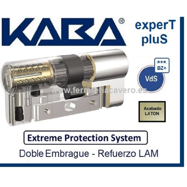 CILINDRO KABA 30+30 60mm EXTREME EXPERT  PLUS D.EMBRAGUE LATON