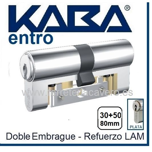 CILINDRO KABA ENTRO 30+50 80mm CROMO LAM DOB.EMBRAGUE