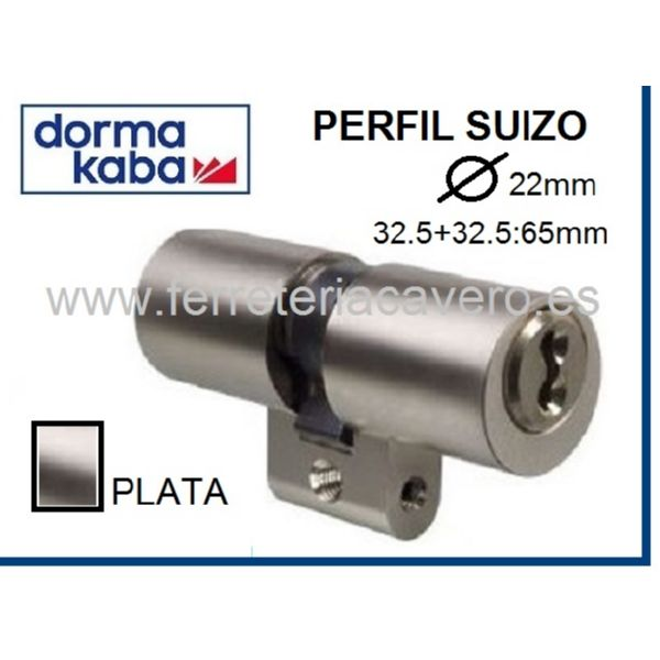 CILINDRO Suizo 22mmm X 65mm KABA D/E ExperT Plus Cromo