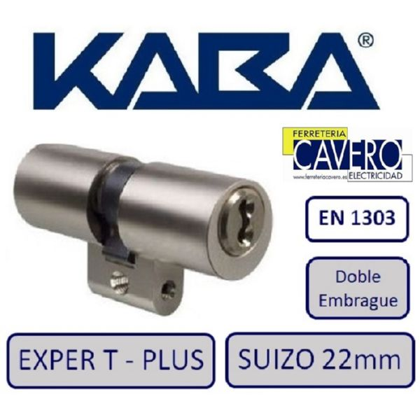 CILINDRO SUIZO 22mmm X 65mm KABA D/EMB EXPERT PLUS CROMO