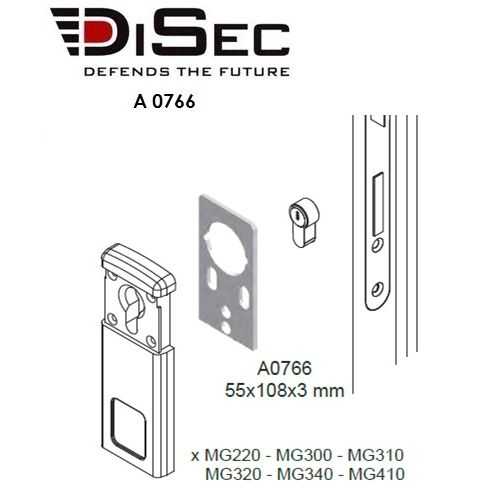 PLACA ADAPTACION DISEC 3MM ORO A0766