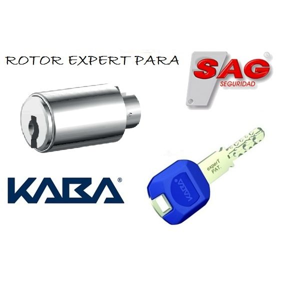 ROTOR KABA EXPERT PLUS INSERT K83 CROMO CON 1 LLAVE