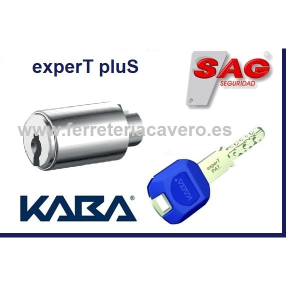 Rotor KABA ExperT Plus INSERT K83 SAG Cromo con 1 Llave