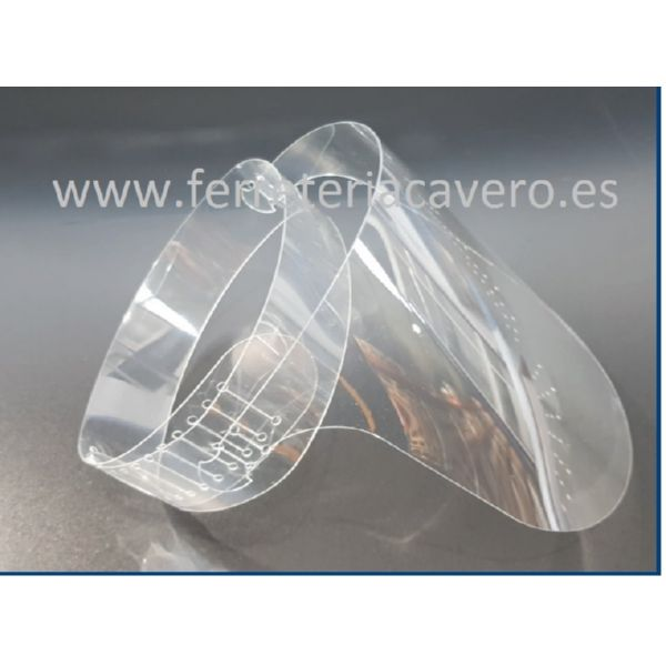 VISERA PROTECCION (1-UND) PET 0.8 mm TRANSPARENTE